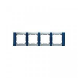 Рамка 4-ая, горизонтальная (алюминий/синий)