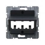 Накладка для 3 MINI-COM модулей (антрацит)