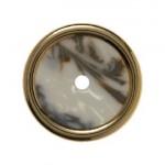 Накладка для поворотных выключателей (белый, декор под мрамор)