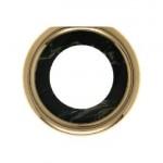 Оконечная рамка для розетки (черный, декор под мрамор)