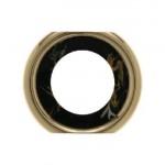 Промежуточная рамка для розетки (черный, декор под мрамор)