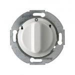 Жалюзийный поворотный выключатель, 2 полюсный (белый)