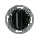 Жалюзийный поворотный выключатель, 2 полюсный (черный)