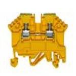 Клемма проходная RK 2,5/PE (желто/зеленый)