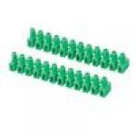 Клемма ответвительная 12pol. 10мм (зелёный)