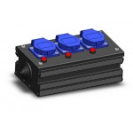 PC-3 Neon Schuko Power Connector